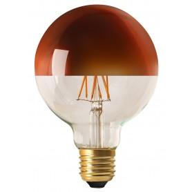 "GLOBE ""BRONZE CAP"" Diam95 LED Calotte bronze 8W 2700K E27 950lm"