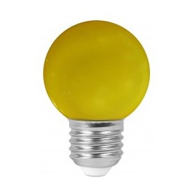"Sphérique ""COLORED GOLFBALL"" Jaune 1W E27"