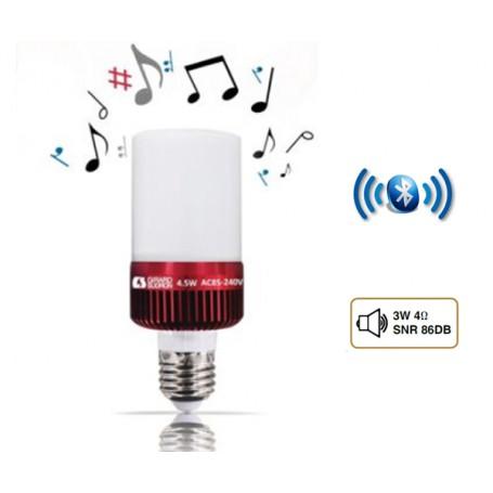 """Lampe Bluetooth """"GSMART SPEAKER"""" Dépoli 4,5W E27 2700K"""