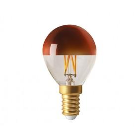 """SPHÉRIQUE """"BRONZE CAP"""" G45 LED Calotte bronze 4W 2700K E14 350lm"""