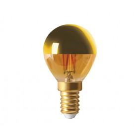 """SPHÉRIQUE """"GOLDEN CAP"""" G45 LED Calotte dorée 4W 2700K E14 350lm"""