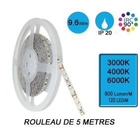 """Rouleau 5M """"SNAKE IP20"""" 9,6W/M IRC90 --- (3 déclinaisons)"""