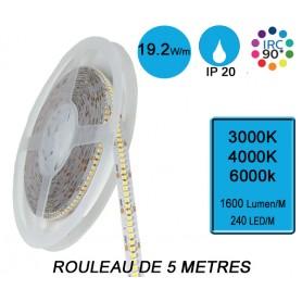 """Rouleau 5M """"SNAKE IP20"""" 19,2W/M IRC90 --- (3 déclinaisons)"""