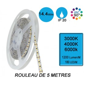 """Rouleau 5M """"SNAKE IP20"""" 14,4W/M IRC90 --- (3 déclinaisons)"""