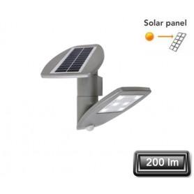 """Applique Solaire LED """"ZETA"""" Gris 2,4W 200lm"""