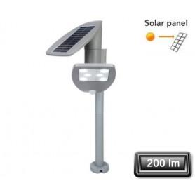 """Borne Solaire LED """"ZETA"""" Gris 2,4W 200lm"""