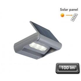 """Applique Solaire LED """"MINI LEDSPOT"""" Gris 3X1W 100lm"""