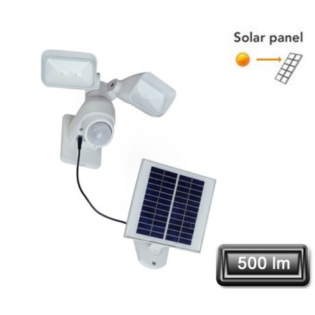 "Projecteur Solaire LED ""OPENY"" Blanc 2x2W 500lm"