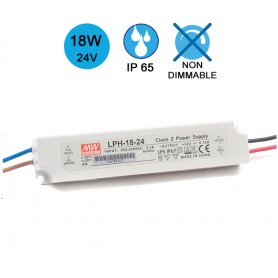Alimentation MEANWELL IP65 18W 24V