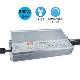 Alimentation MEANWELL IP67 600W 24V