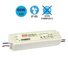 Alimentation MEANWELL IP65 60W 12V