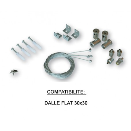 Kit de Suspension pour Dalle FLAT 30X30