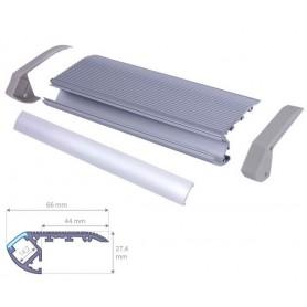 Profilé Aluminium pour nez de marche diffuseur Dépoli avec accessoires --- 1m/2m