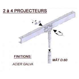 Traverse à Bride Acier Galvanisé 2-4 projecteurs