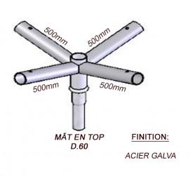 Crosse Fixation Quadruple en TOP pour MAT Acier Galvanisé