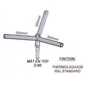 Crosse Fixation Triple en TOP pour MAT Acier Thermolaquage --- (19 couleurs)