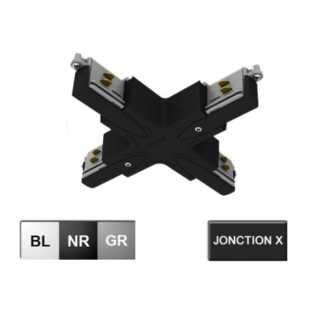 """Jonction en X """"XA3"""" pour rail TRITON --- (3 couleurs)"""