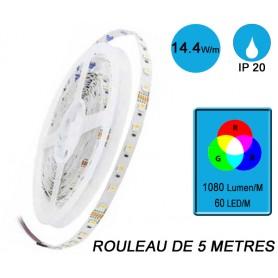 "Rouleau 5M ""SNAKE RGB IP20"" 14,4W/M IRC80"