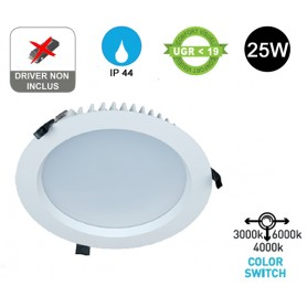 "Encastré LED ""TERTIA"" Diam225 25W Switch"