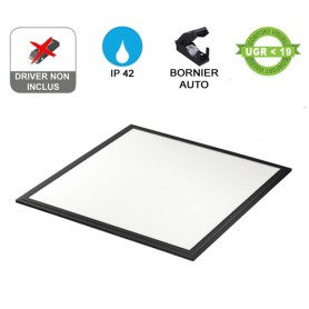 "Dalle LED ""FLAT 600"" Standard 40W Noir --- (2 déclinaisons)"