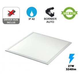"Dalle LED ""FLAT 600HL"" Standard 27W --- (2 déclinaisons)"