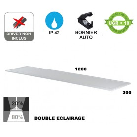 "Dalle LED ""FLAT 120DB"" Standard double éclairage 40W --- (3 déclinaisons)"